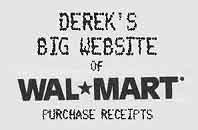 Derek's Big Website of WalMart Purchase Receipts FAQ